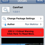 Open Camera @ Blink Speed; CamFast Cydia Tweak