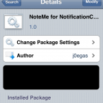 NoteMe Notification Center Widget: Add Notes To Notification Free Cydia Tweak