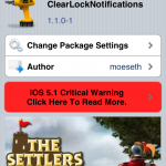 Clear Notification Center: ClearLockNotification Cydia Tweak