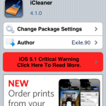 Speed Up iPhone 4S: iCleaner Cydia Tweak