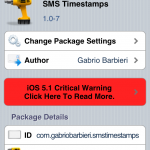Add Time/Date To Text Messages; SMS TimeStamp Messages Cydia Tweak