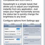 Control Screen Brightness By Swiping: SwipeBright Cydia Tweak