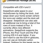 Remove Dock With Animation; SwipeDock Cydia Tweak
