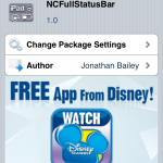 NcFullStatusBar iPad Cydia Tweak(Free): Always See Status Bar