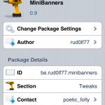 MiniBanners Cydia Tweak(Free):Reduce Banner Size