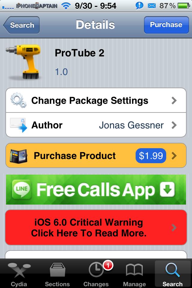 ProTube 2 Cydia Tweak: The Ultimate Youtube Application