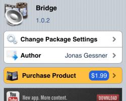 bridge cydia tweak