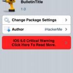 BulletinTitle Cydia Tweak[FREE]:Add Animation Customizable Speed