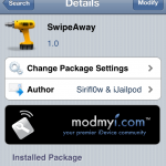 Dismiss Background Apps Through Gestures: SwipeAway Cydia Tweak