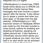 VSNotification Cydia Tweak: Speak Titles, Messages, and More