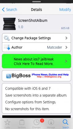Screenshotalbum Cydia Tweak Screenshot