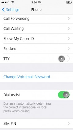 iPhone blocked list