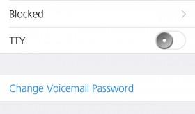 iPhone blocked list