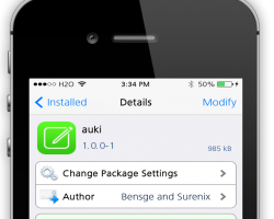 Auki Cydia Tweak Screenshot