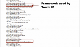 iPad Touch ID reference in iOS 7.1