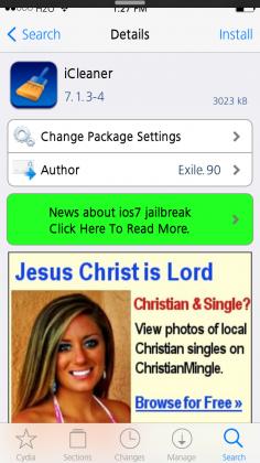 iCleaner Tweak Screenshot