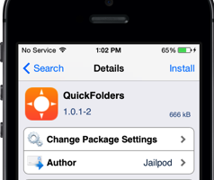 quickfolders cydia Tweak