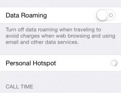 iOS 7 HotSpot