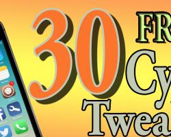 30 FREE CYDIA TWEAKS 2014
