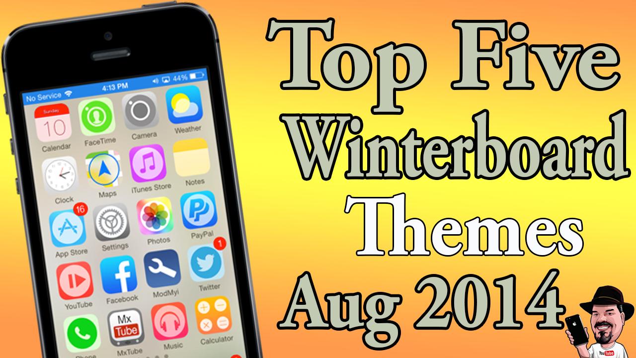 Best Five Ios 7 Winterboard Themes August 31 2014 Iphonecaptain Ios 10 Jailbreak Tips Tweak And App Reviews