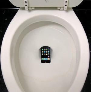 iPhone in Toilet