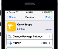 quick scope cydia tweak