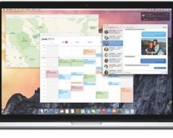 OS X Yosemite on MacBook Pro.