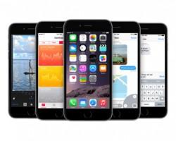iPhone 6 Plus Space Gray Running iOS 8