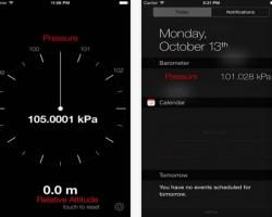 Barometer + Widget iOS app