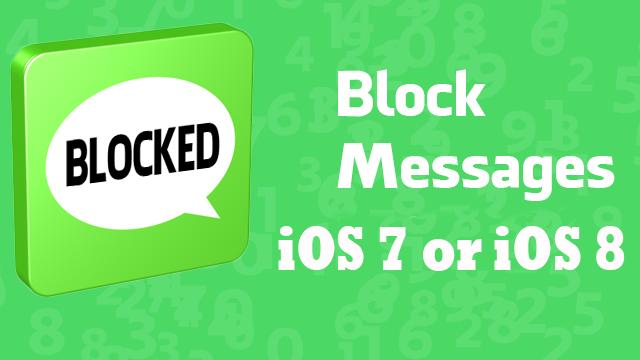 block imessages ios 8