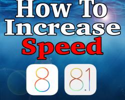 iOS 8 speed
