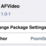 AFVideo Cydia Tweak for iOS 8
