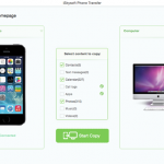 1 Click Transfer Data from Phone to Phone with iSkysoft Phone Transfer for Mac