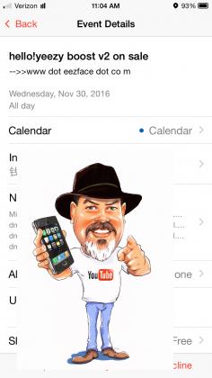 icloud calendar spam