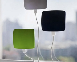 Solar powered iphone charger