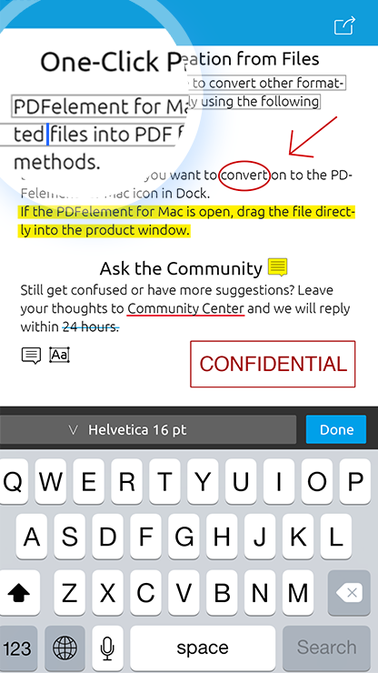 PDFElement by Wondershare makes using pdf files a breeze on iOS devices