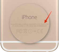 iphone model number location
