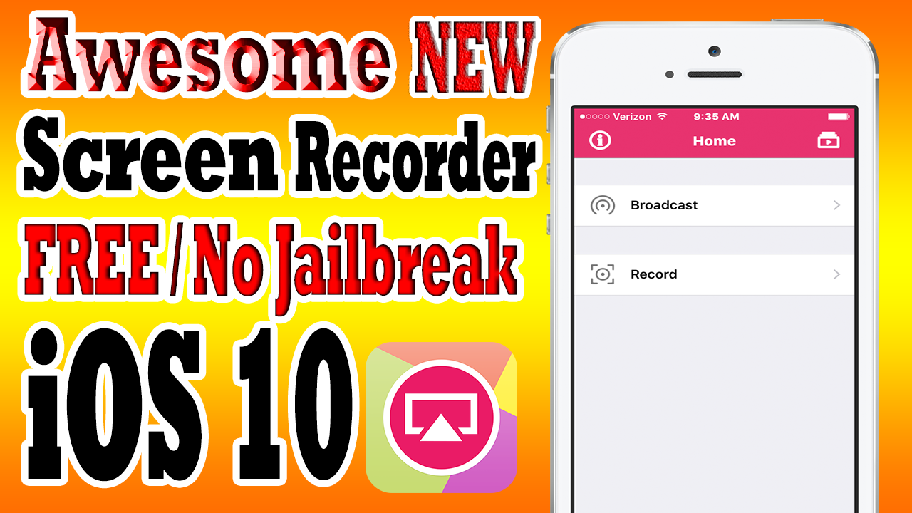 screen recorder ios 10