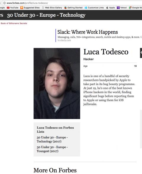 Luca Todesco Forbes