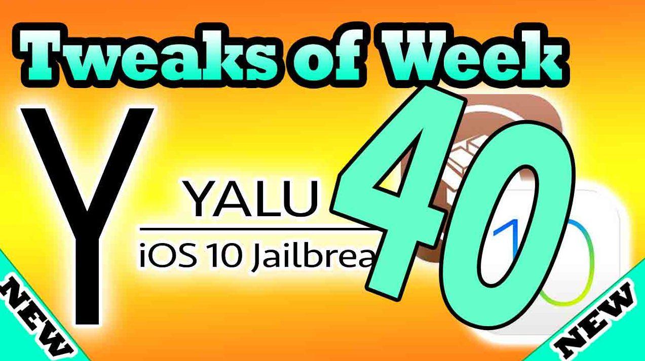 40 tweaks install after Yalu Jailbreak