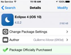 Eclipse Cydia Tweak