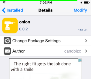 onion tweak
