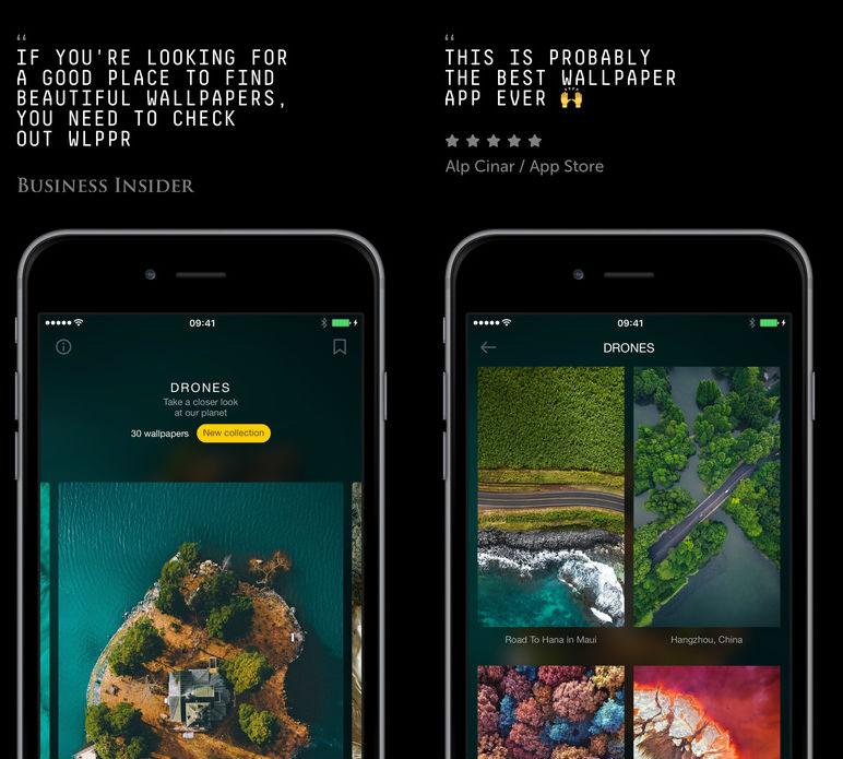 Wlppr iOS App wallpaper iOS apps
